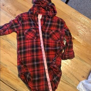 NWT hooded tunic flannel